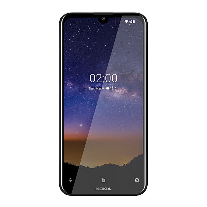 "Nokia 2.2 Dual SIM 5.71"" 2GB RAM 16GB ROM 13MP Camera 3000mAh Li-Ion Battery - Black"