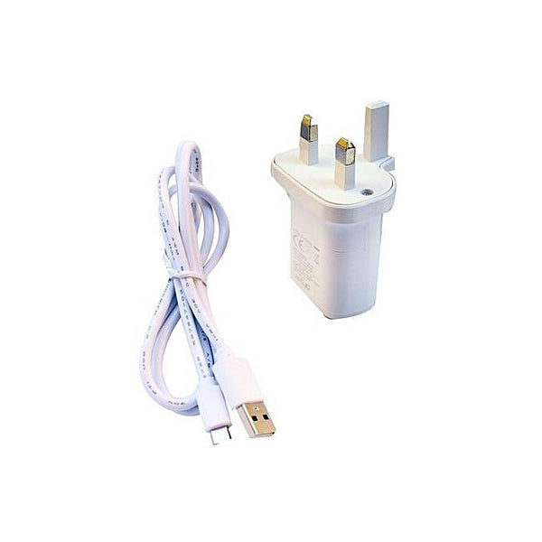2-in-1 Travel Adapter Fast Charger for Android - White-Shop Twenty Four Seven Uganda