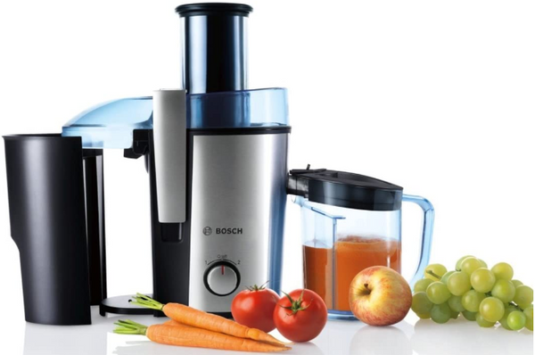 Bosch MES3500GB Juicer, 700 W, 2 Litre, Blue/Stainless Steel