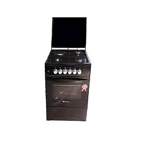 BlueFlame C5031E-B- 3 Gas + 1 Electric Plate Gas Cooker & Oven 50*50Cm - Black-Shop Twenty Four Seven Uganda