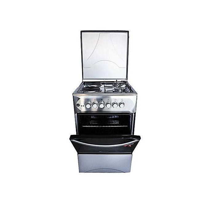 BlueFlame S5022E-I-R - Cooker 50x55cm 2+2 Electric Oven - Stainless steel-Shop Twenty Four Seven Uganda