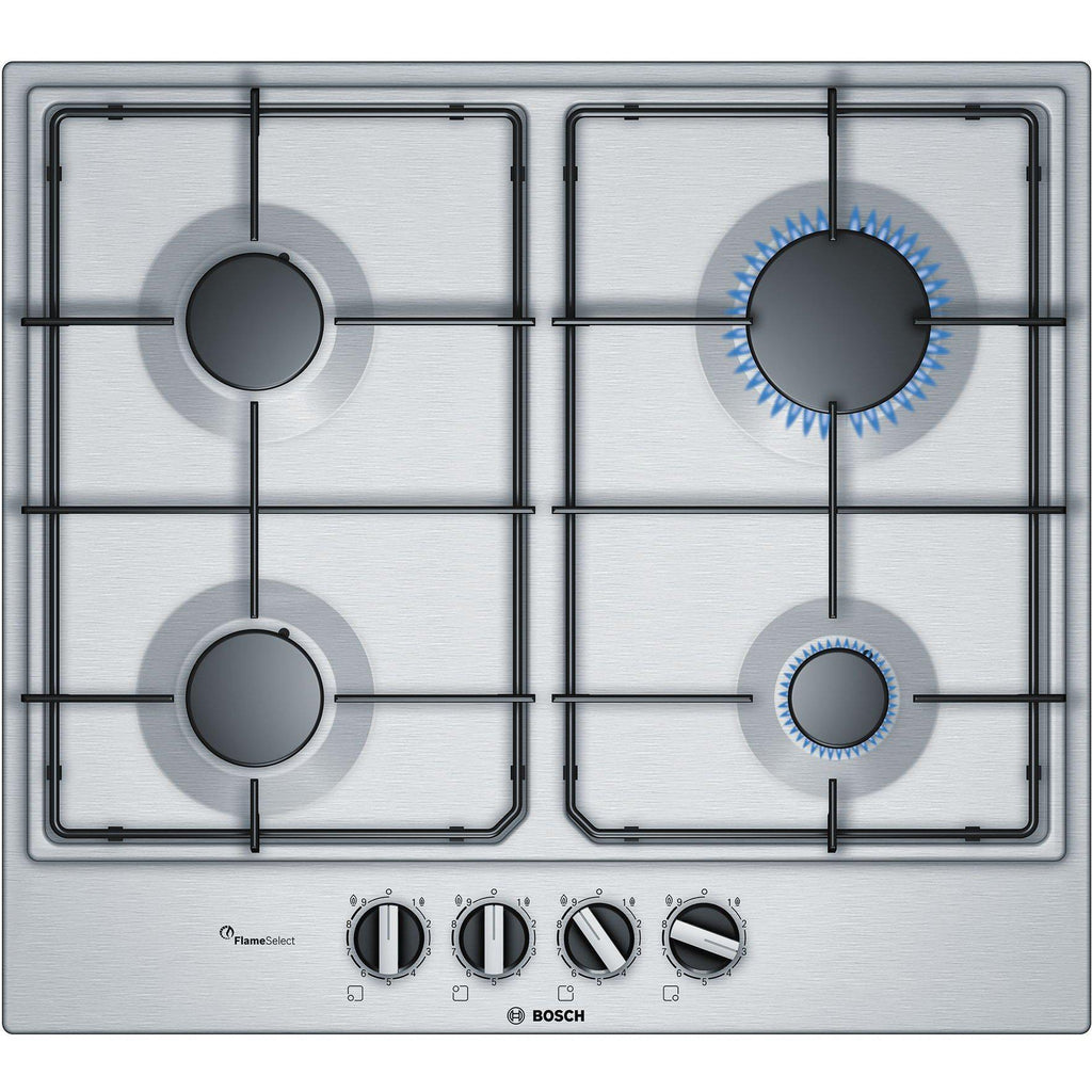 Bosch PCP6A5B80 Serie 6 60 cm, gas hob with integrated controls, Stainless steel-Shop Twenty Four Seven Uganda