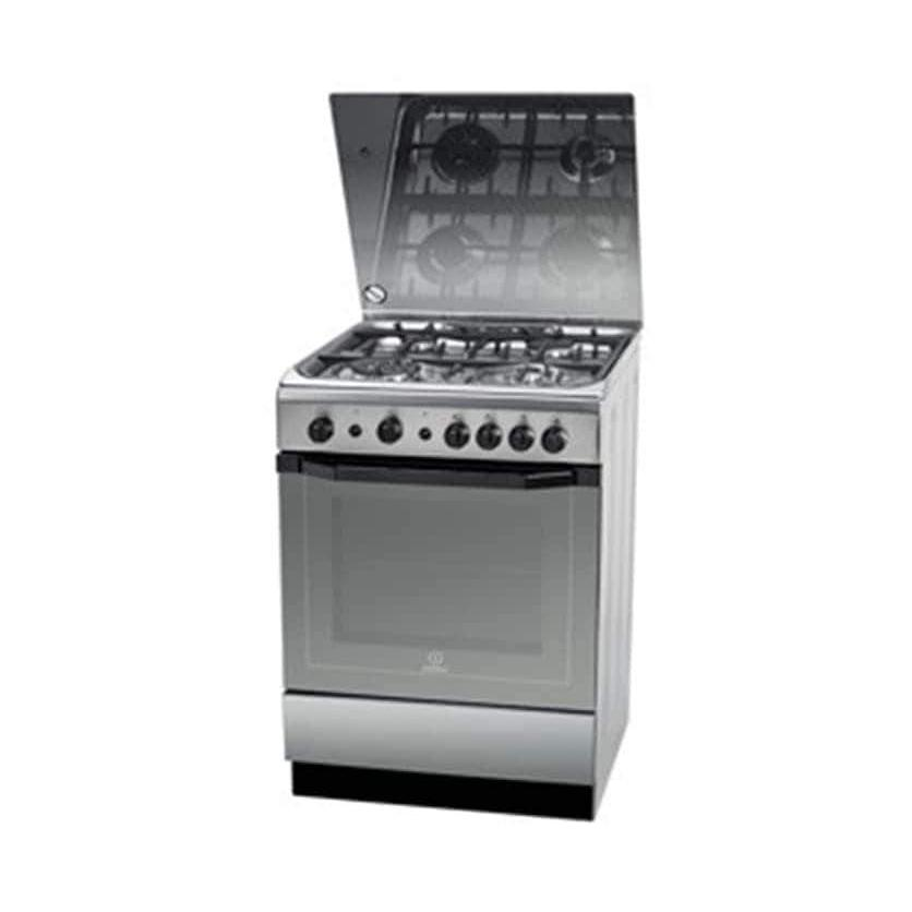 Indesit I6TG1G(X)GH/EX Gas Cooker - 60x60cm, 4 burners, Stainless Steel-Shop Twenty Four Seven Uganda