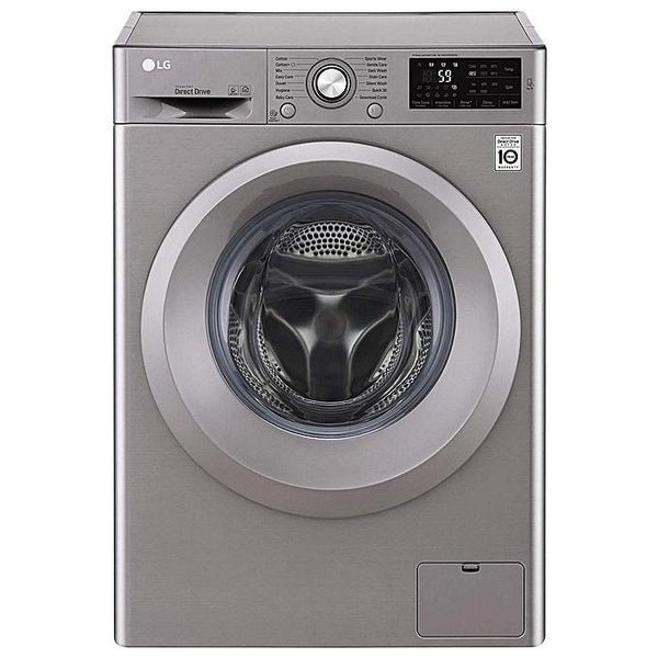 LG F2J5NNP7S 1000RPM 6Motion Front Load Washing Machine; 6Kg; Silver-Shop Twenty Four Seven Uganda