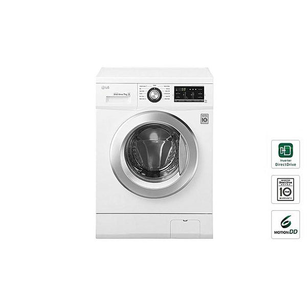 LG Front Load, 7Kg, FH2J3QDNP0 Washer - White-Shop Twenty Four Seven Uganda