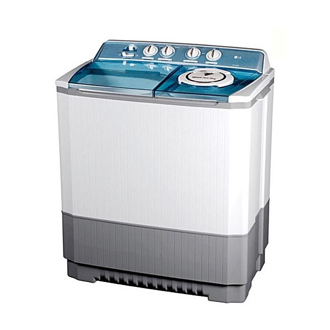 LG P1460RWN - 11Kg, Twin Tub Washing Machine - White, Grey-Shop Twenty Four Seven Uganda