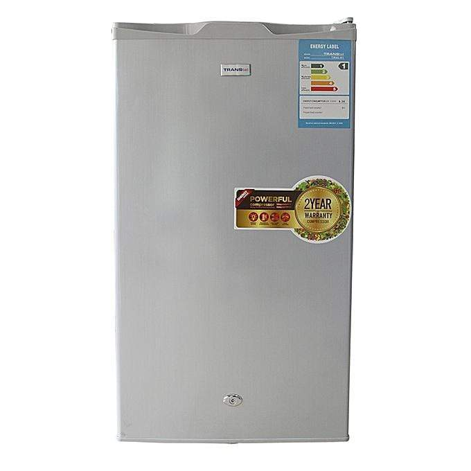 Transtel Single Door Refrigerator 95Ltrs - Part No. TR95-H1 - Silver-Shop Twenty Four Seven Uganda