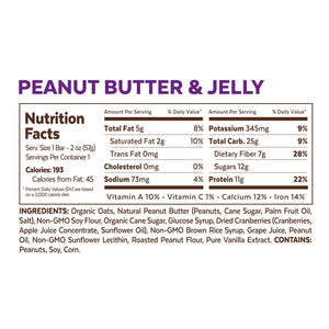 Grab The Gold Peanut Butter & Jelly Snack Nutrition Facts