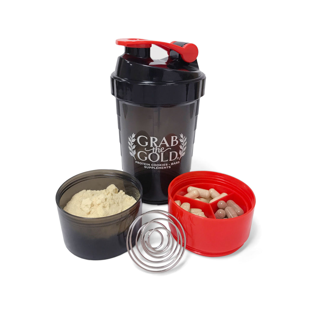 Blender Bottle with Storage - Protein Shaker Bottle