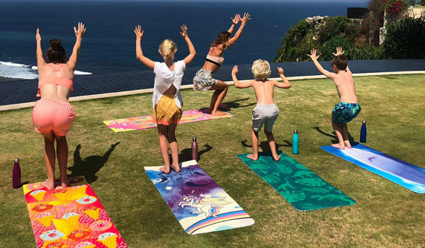 Kids Yoga on holiday in Bali