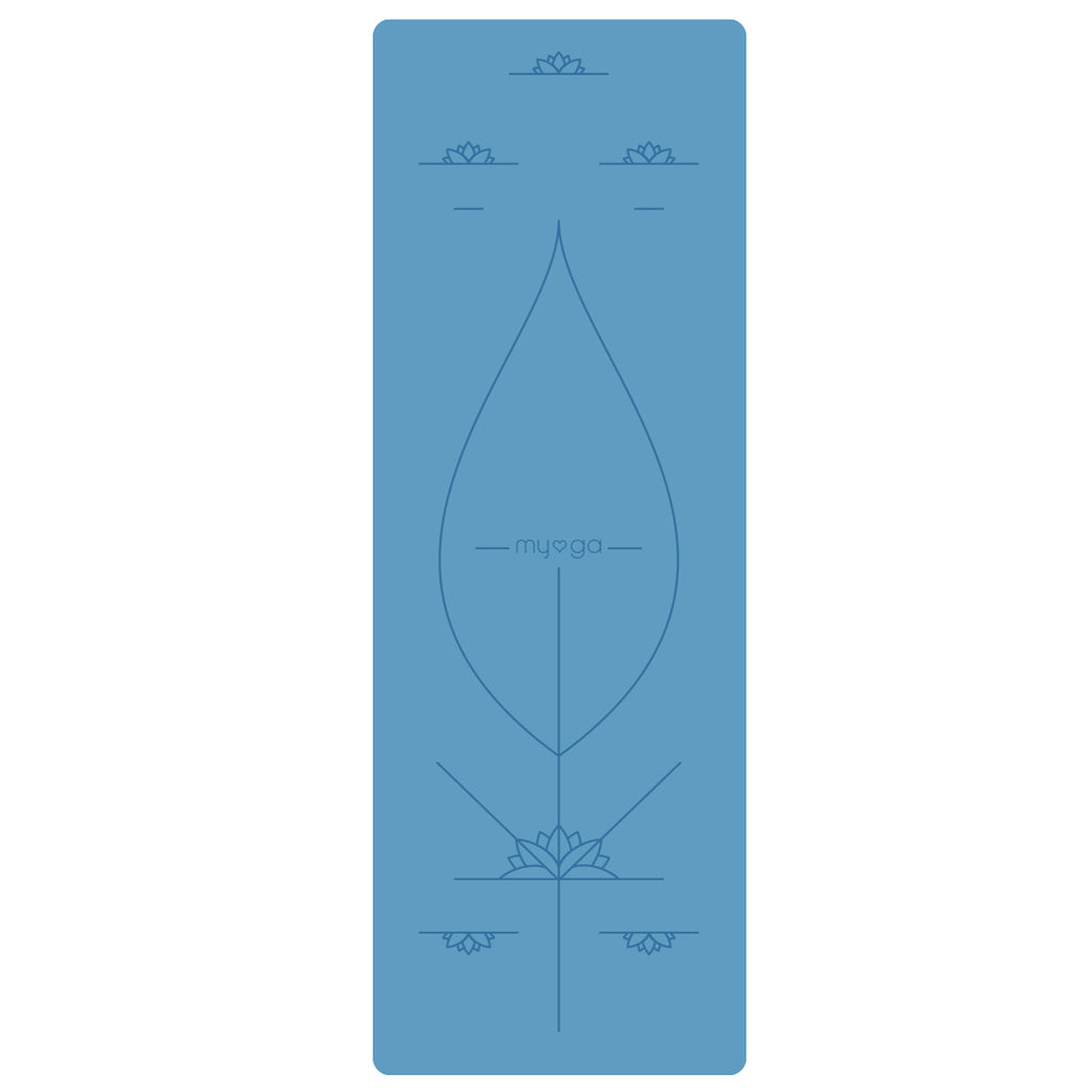Extra Large Blue Alignment Yoga Mat