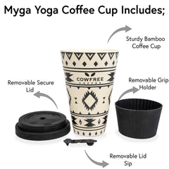 Aztec Reusable Eco Bamboo Drinking Cup