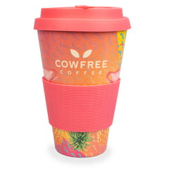 Tropical Reusable Eco Bamboo Drinking Cup