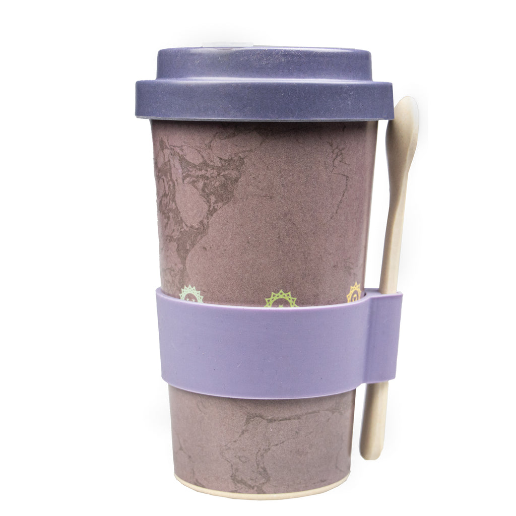 Reusable Bamboo Smoothie / Soup Cup - Chakra