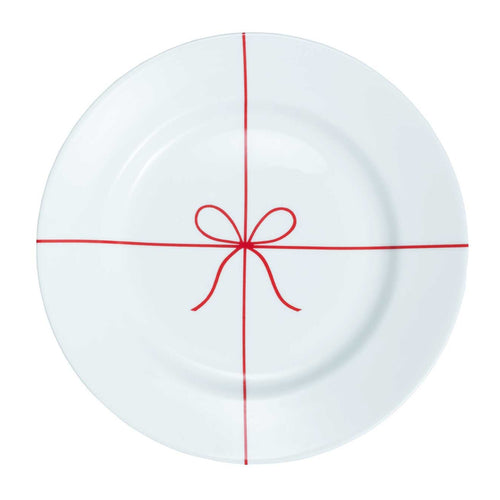 'Christmas Package' Holiday Plate with Red Bow