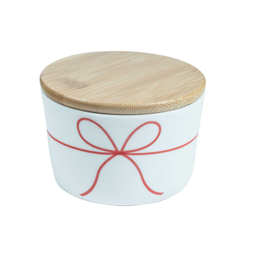 'Christmas Package' Holiday Canister with Wood Lid