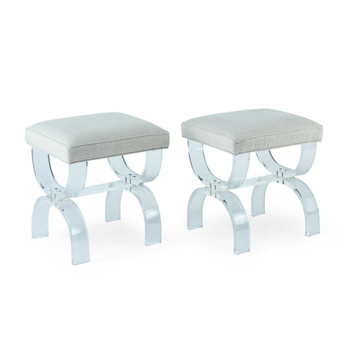 Pair of Vintage Lucite Stools