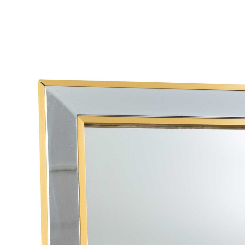 Brass and Chrome Mirror