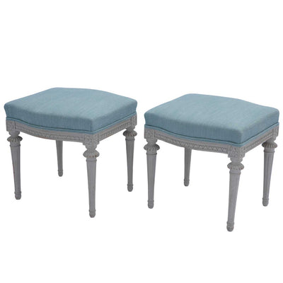 Pair of Gustavian Tabourets