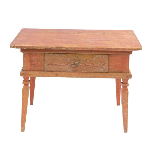 Rococo Table with Red Paint