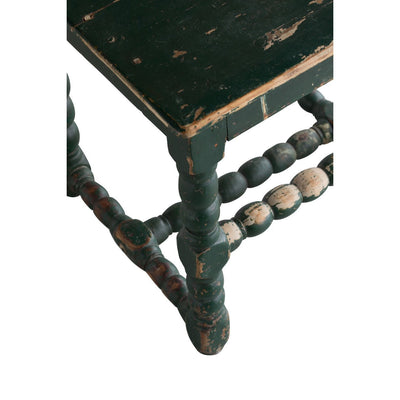 18th C. Swedish Farm Chair with Kurbits and Green Paint Eleish Van Breems Home