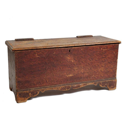 19th C. American Painted Pine Trunk