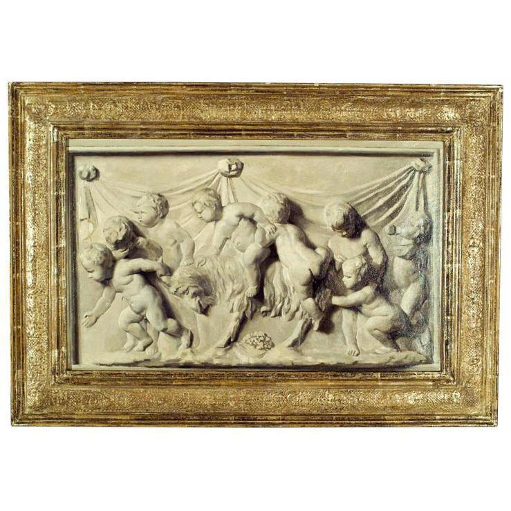 19th C. Dutch Painted Panel