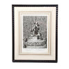 "19th C. French Engraving, ""Fountains of Versailles"" Eleish Van Breems Home"