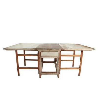 19th C. Swedish Dropleaf Table-Eleish Van Breems Home