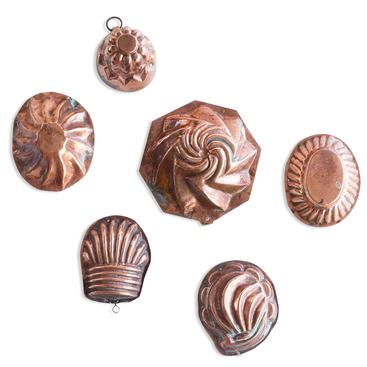 19th c Swedish mini copper molds