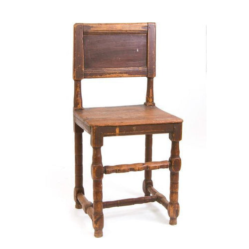 19th C. Swedish Red Painted Farm Chair