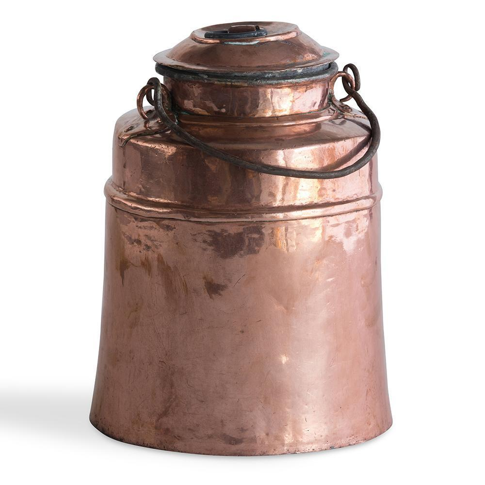 19th C.Swedish Copper Milk Pail