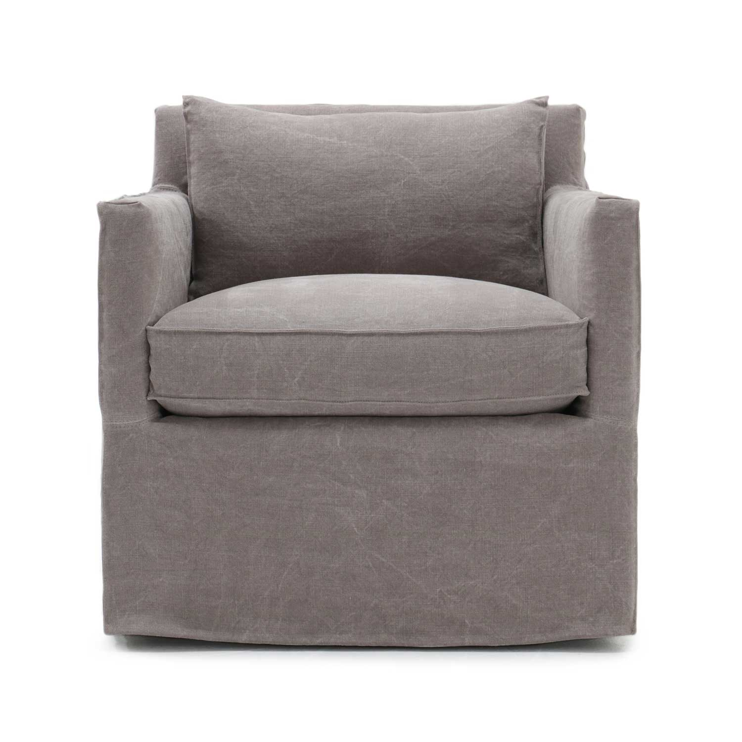 Jan Club Swivel Chair Inala Flax