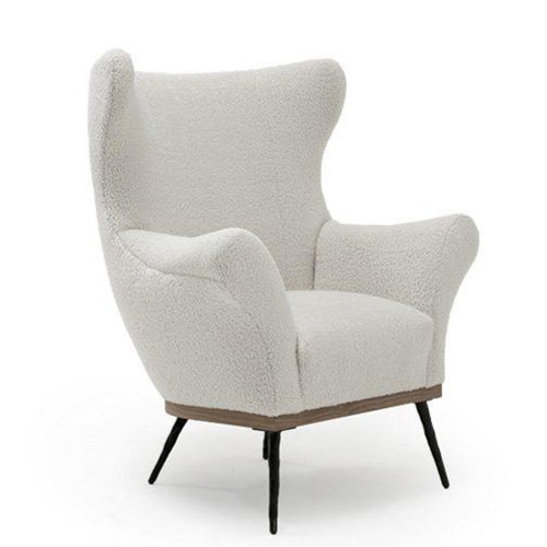 Paola Club Wing Chair Fabric Natural