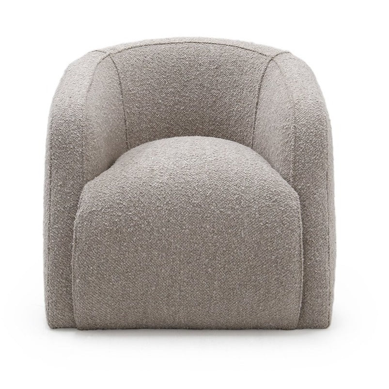 Theo Club Swivel Chair Adagio Light Grey