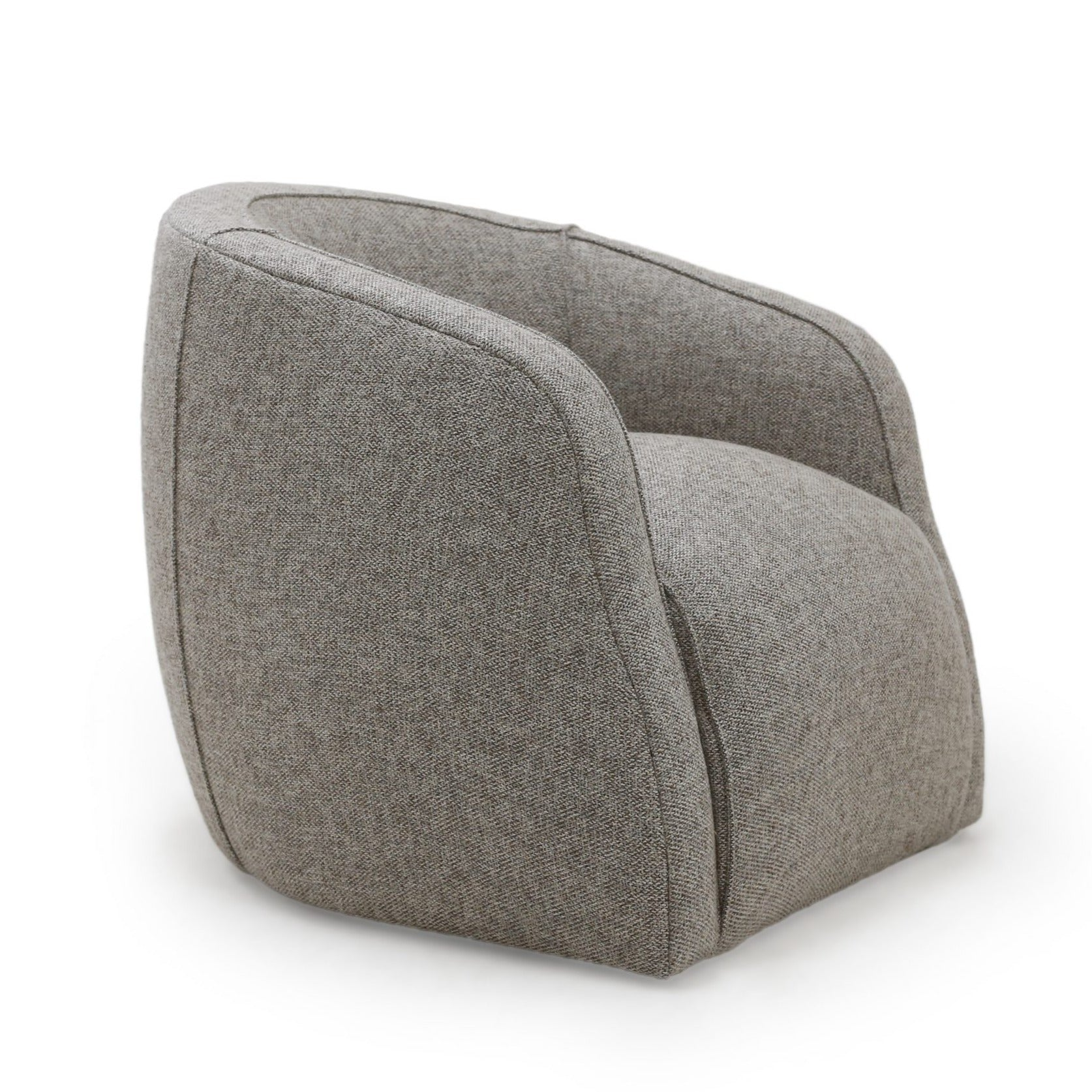 Theo Swivel Club Chair Pewter