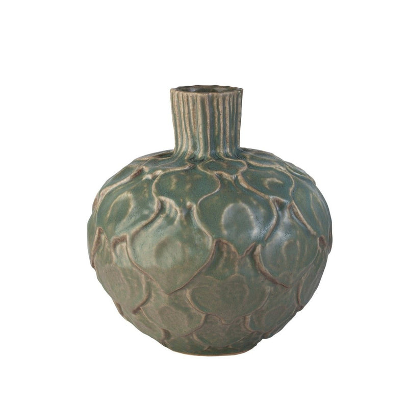 Artichoke Clay Vase Small Forest Grey Eleish Van Breems Home