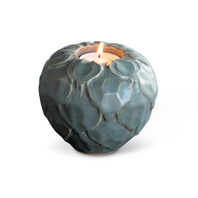 Artichoke Tealight Holder Forest Grey Eleish Van Breems Home