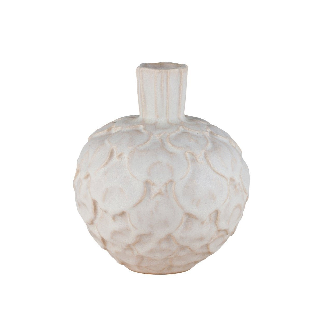 Artichoke Vase Medium White Eleish Van Breems Home
