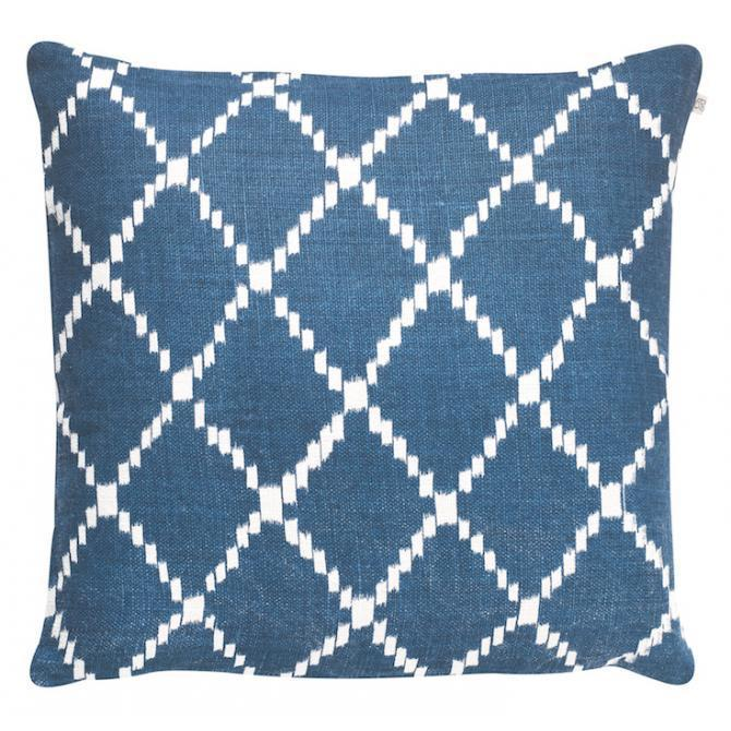 Blue Ikat Kerela Linen Pillow