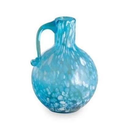 Blue Murano Hand Blown Pitcher