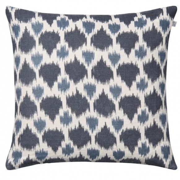 Blue & Palace Blue Assam Linen Pillow-Eleish Van Breems Home