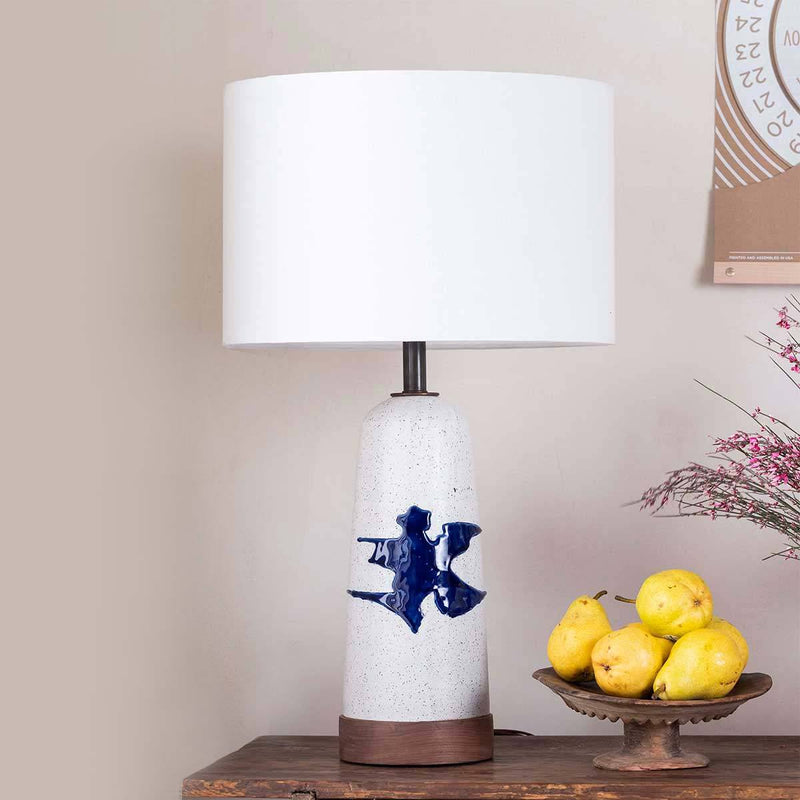Blue Splatter Table Lamp-Eleish Van Breems Home