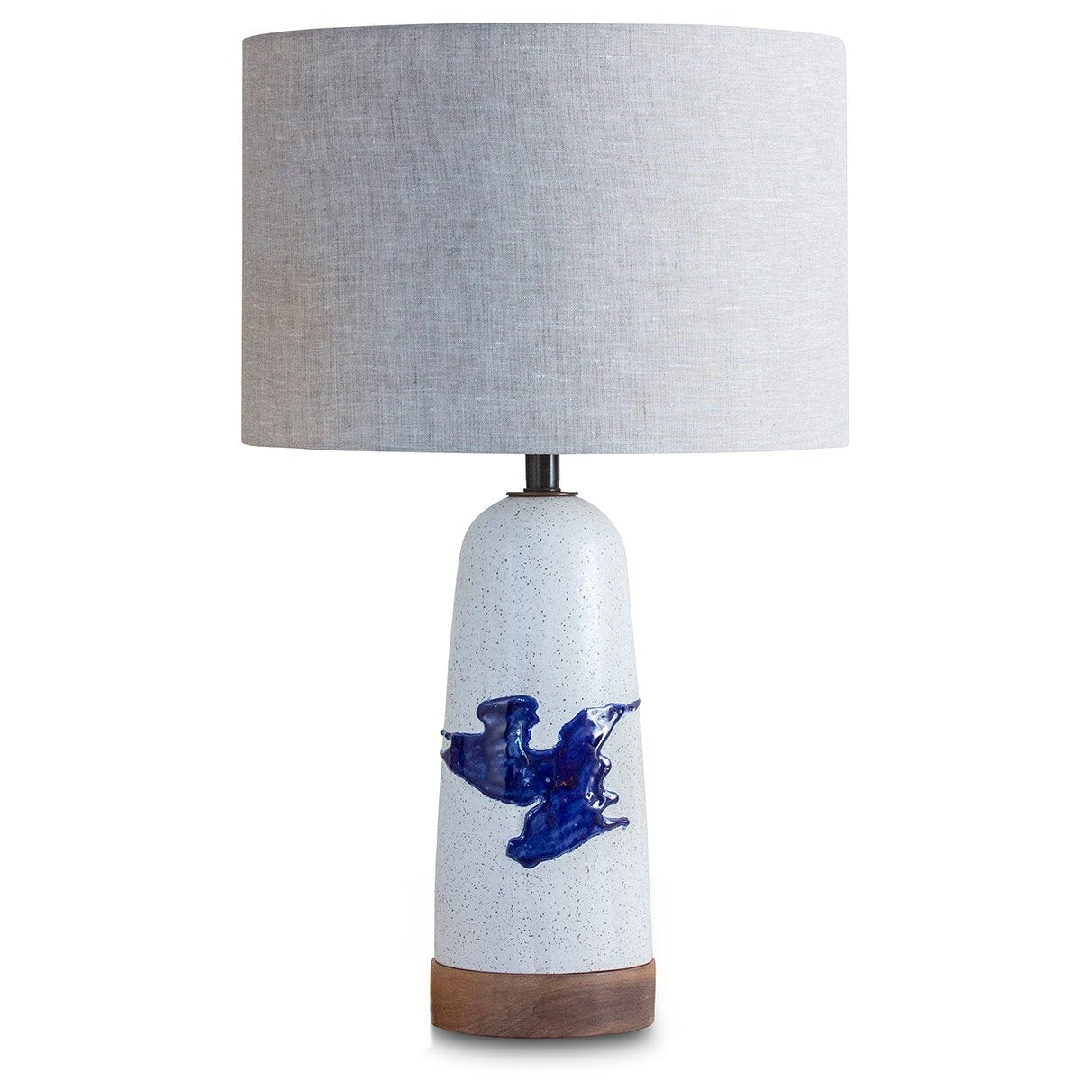 "Blue ""Splat"" Table Lamp Eleish Van Breems Home"