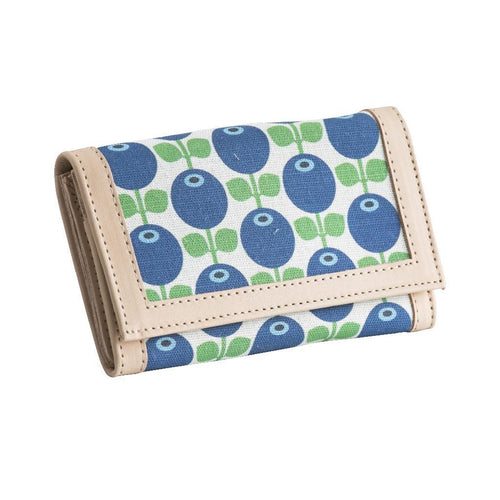 Blueberry Leather Wallet by Floryd