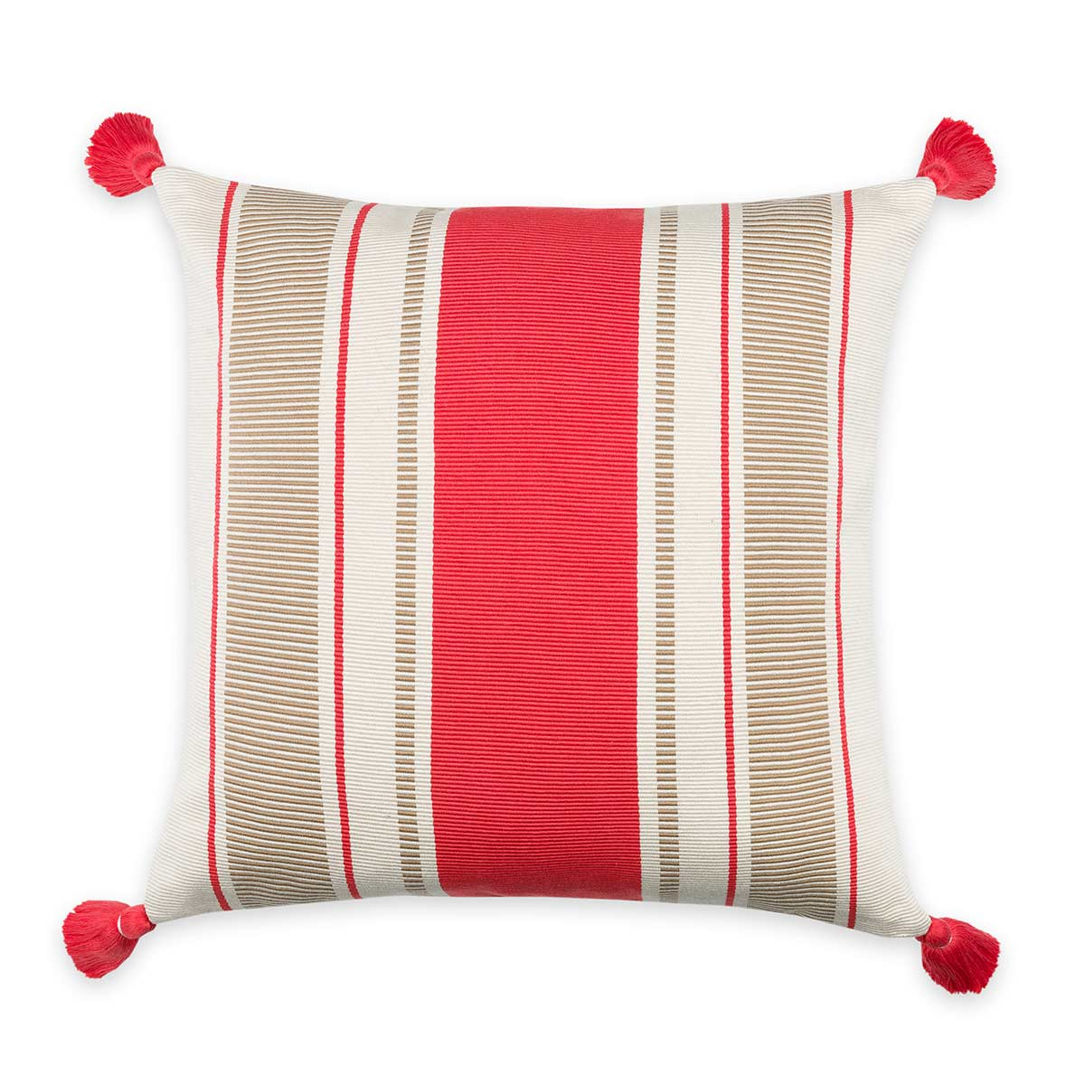 Cabana Stripe Pillow Coral/Camel Eleish Van Breems Home