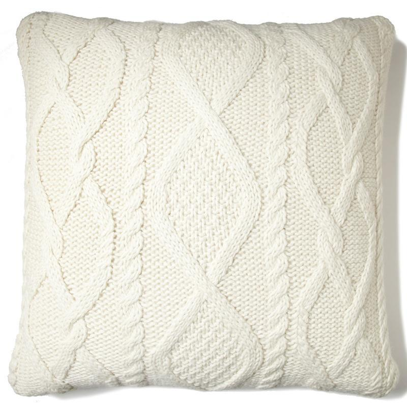 Chalet Cable Pillow Natural Eleish Van Breems Home