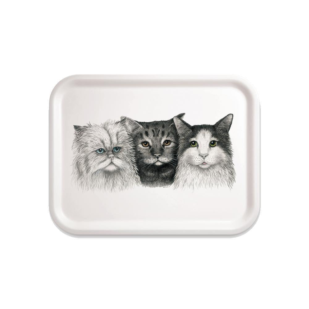 Charlotte Nicolin Small Rectangle Tray 3 Cats Eleish Van Breems Home