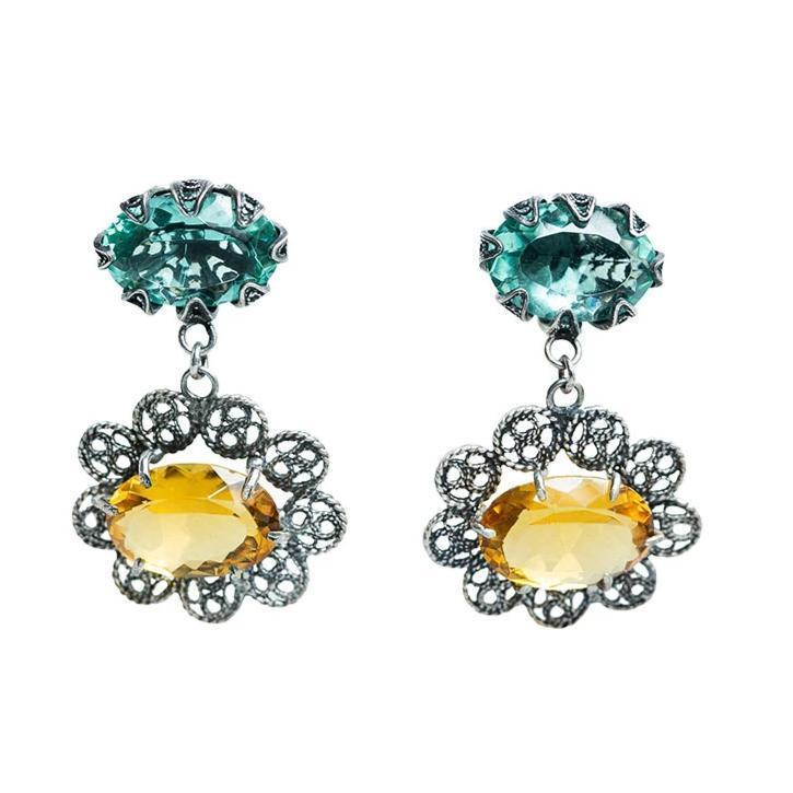 Citrine Filigree Earrings Eleish Van Breems Home