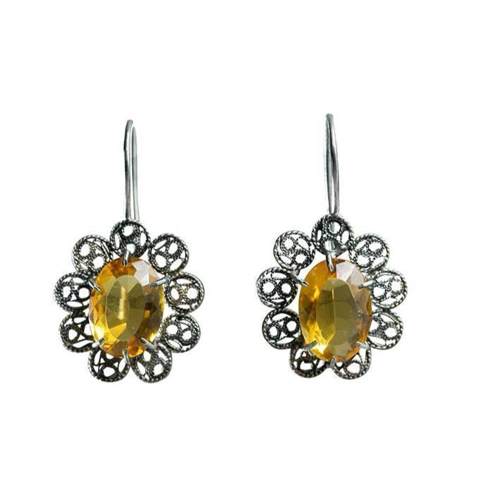 Citrine Filigree Earrings